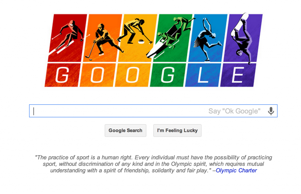 Google Olympic Charter Doodle